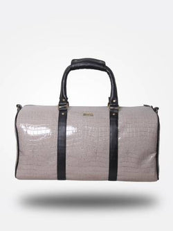 Strutt Women Grey Croc Print and Black Duffel Bag / Cabin Baggage $ SMD544
