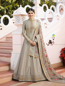 YOYO Fashion Designer Chennai Silk Semi-stitched Fancy Party Wear Anarkali Salwar Suit $ YO-F1214