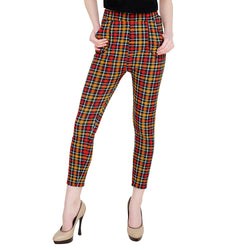 Baluchi Check Plaid Print Jeggings $ BLC_JEG_19
