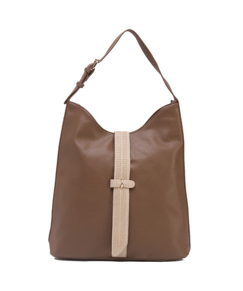 Fiona Trends Khaki PU Shoulder Bag,6604_KHAKI