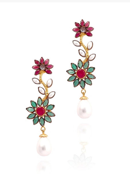 Phool Latkan Earrings - JNDDEAR8326