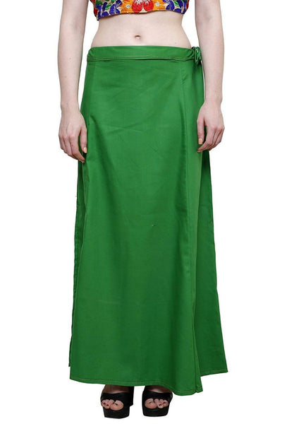MY TRUST Cotton Green Color Saree Petticoats $ PT-7