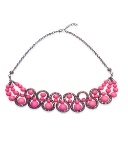 BAUBLE BURST Gobstopper Pink Necklace