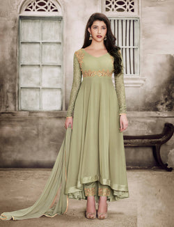 YOYO Fashion Georgette Anarkali Semi-Stitched salwar suit $ F1135 -Light Green