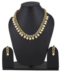 aradhya Brass Jewel Set (White)