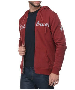 Westbrook Polo Club Maroon Hooded F/S Sweatshirt With Zipper