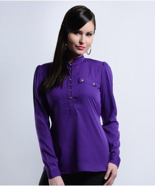 Dezaina Purple F/S Top