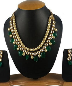 Aradhya Stone Jewel Set (Gold, Green)
