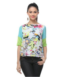 Quirk Box Multicolor S/S Top