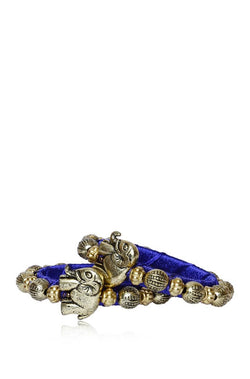 Bauble Burst Hathi Moti Blue Bangles Set