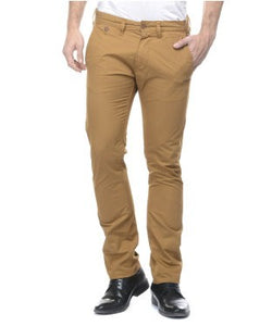 Fcuk Light Brown Flat Front Trouser