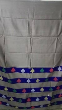 Festive Buzz Grey & Blue Cotton Handloom Sarees $ 1441