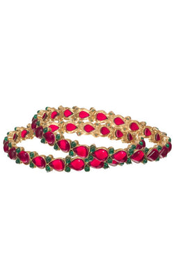 Bauble Burst Gulab Phool Bangle Set