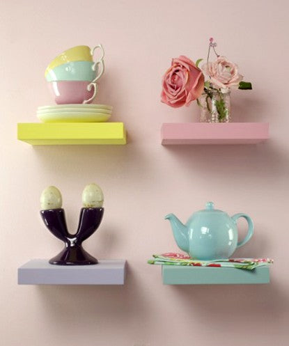 THE NEW LOOK Colorful Wooden Wall Shelf-100000813533