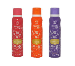Naughty Girl WILD FLOWER PASSION LAVENDER MIST Deodorant for Women- (Set of 3) (150ml each)