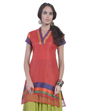 DESI THREADS Red Kurti