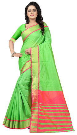YOYO Fashion Latest Fancy Kota Dhupian Parrot Green Saree $ SARI2582 Parrot Green