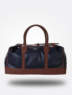 Strutt Unisex Top Tie Blue & Brown Leatherette Cabin Baggage $ SMD512