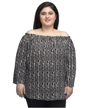 Oxolloxo Printed Off Shoulder Top