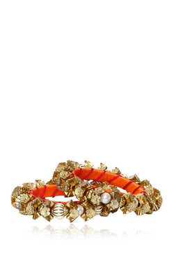Bauble Burst Flower Trail Bangles Set