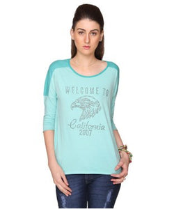 Bedazzle Mint Green 3/4 Slv Top