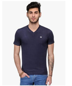 Dazzgear Men's Navy V Neck MTV-51 T-Shirt