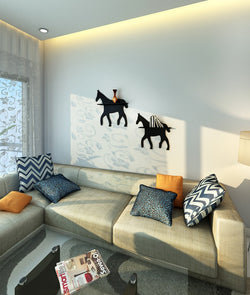 THE NEW LOOK Horse Shape Wall Shelf-100000813568