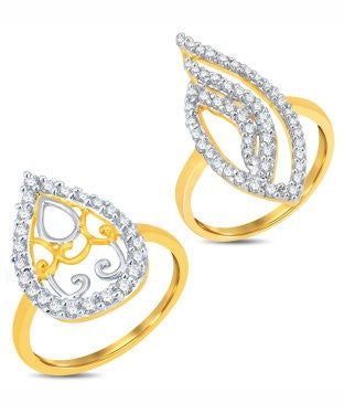 Sukkhi Valentine Collection Delightful Gold & Rhodium Plated CZ Combo With Rose Box For Women Pack Of 2