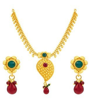 Sukkhi Glorious Kairi Gold Plated Necklace Set For Women