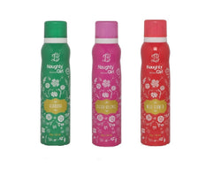 Naughty Girl GLAMOUR FLEUR-ESSENCE WILD FLOWER Deodorant for Women- (Set of 3) (150ml each)