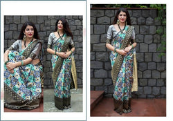 Fashion Zonez Patola weving work Banarasi Patola Silk Grey Designer Saree With Blouse $ FZ 2735