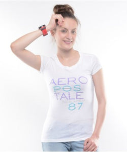 Aeropostale White S/S Top