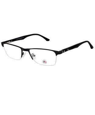 David Blake Black Rectangular Half Rim EyeFrame