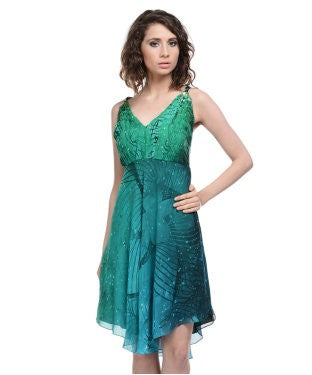 Satya Paul Green And Multi Tunic