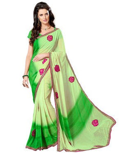 Bamberg and Georgette Saree with Blouse