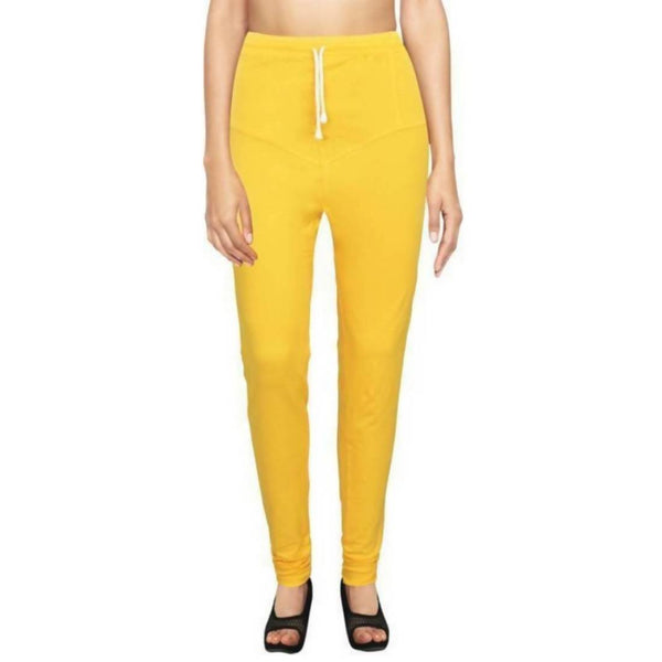 Amihgo Women's Yellow Churidar Cotton Legging-Free Size-MAH40015