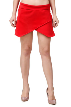 Fame 16 midi length Women's Red Nylon Skort Skirt $ F16-1600126