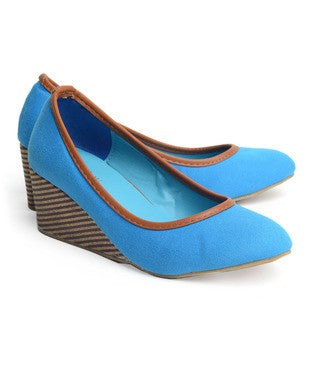 Wedge Heel Court Shoes