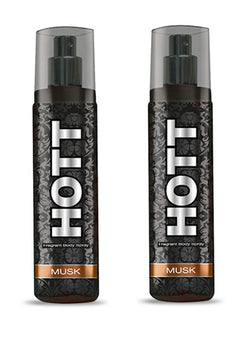 HOTT MUSK Perfume Spray for Men Pack of 2 (135ml each)