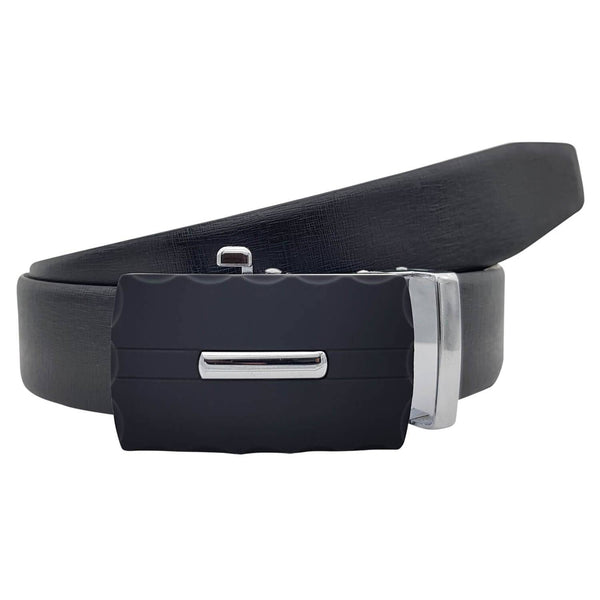 Baluchi's Chima Textured Formal Reversible Leather Belt with Auto lock Buckle $ BLC_LMAUTORV_09
