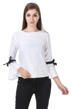 Fashians Solids White poly crepe Top $ FS-1700016