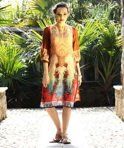 Long Jamawar Printed Tunic