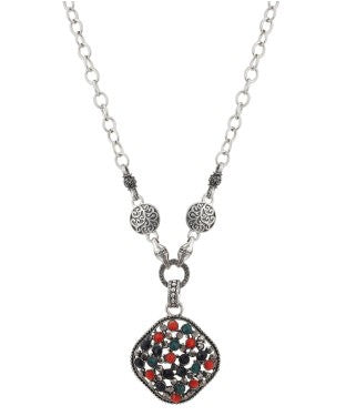 Aradhya Crystal Silver Plated Alloy Necklace