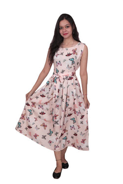 Libas Closet The A Line Cotton Muslin Fabric Dress $ Libas-038