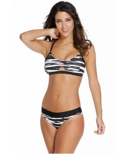 Fastlane Banded Two Piece Swimsuit