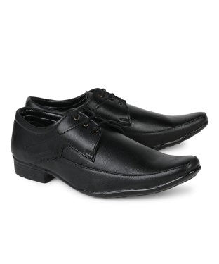 KACEY Black Airmix Sole Formal Shoes