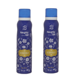 Naughty Girl ULTRAVOILENT Deodorant for Women- Pack of 2 (150ml each)