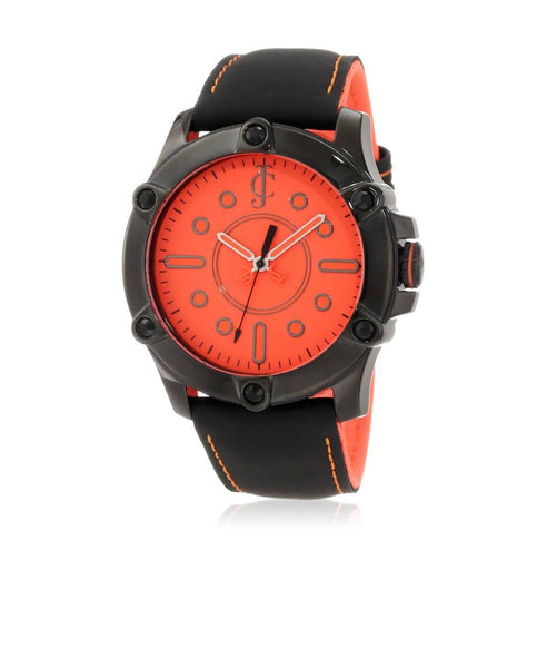 Juicy Couture Orange/Black/Black Stainless Steel/Leather WOMEN CASUALWATCH $ 100000587604