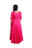 Libas Closet's Women Fine cotton anarkali style long kurta and pallazo set (Pink) $ L-108