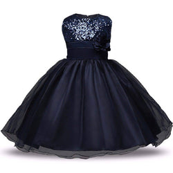 STYLEROBE Kid Girls Sequin Flared Full-Length Ball Gown $ SC01_navy